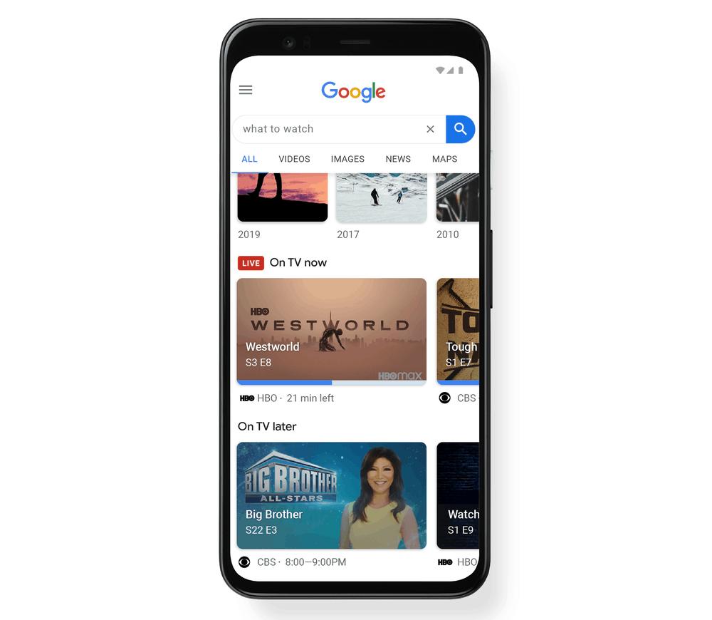 Google search live tv