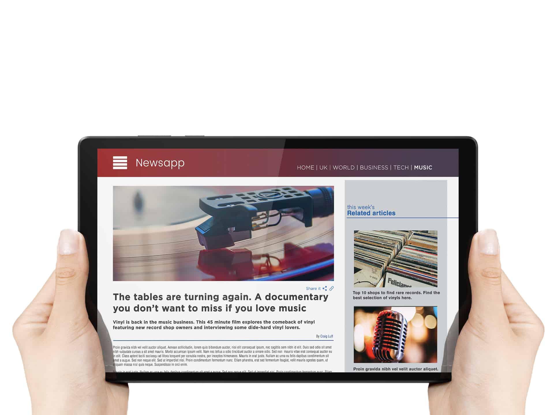 Lenovo Tab M10 HD Gen 2 Platinum Grey News mode