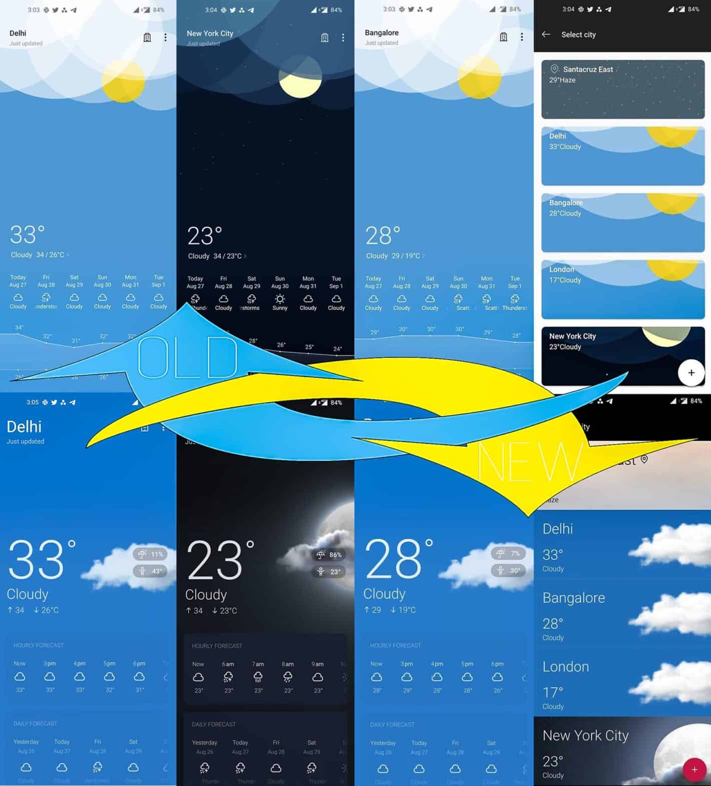 OnePlus Weather August 28 Beta 2020 XDA Collage db