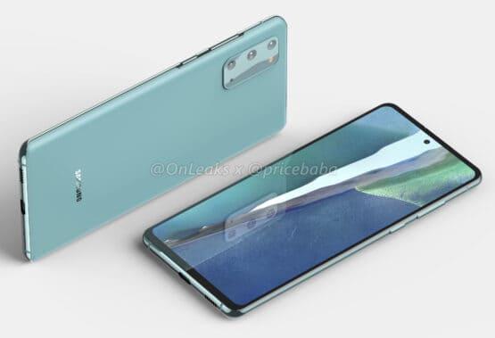 Samsung Galaxy S20 FE 5G render leak 1