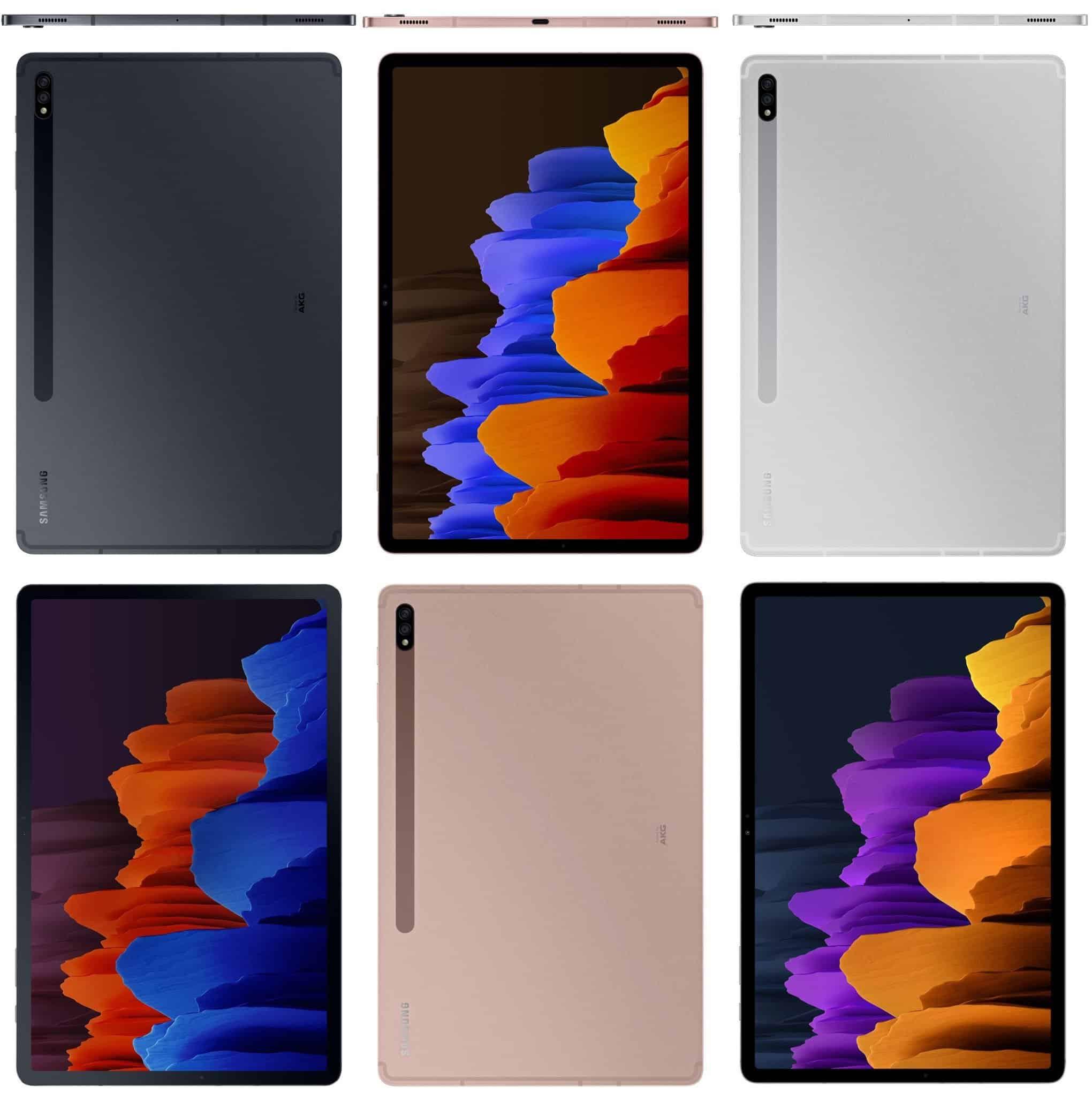 Samsung Galaxy Tab S7 Plus Color Options