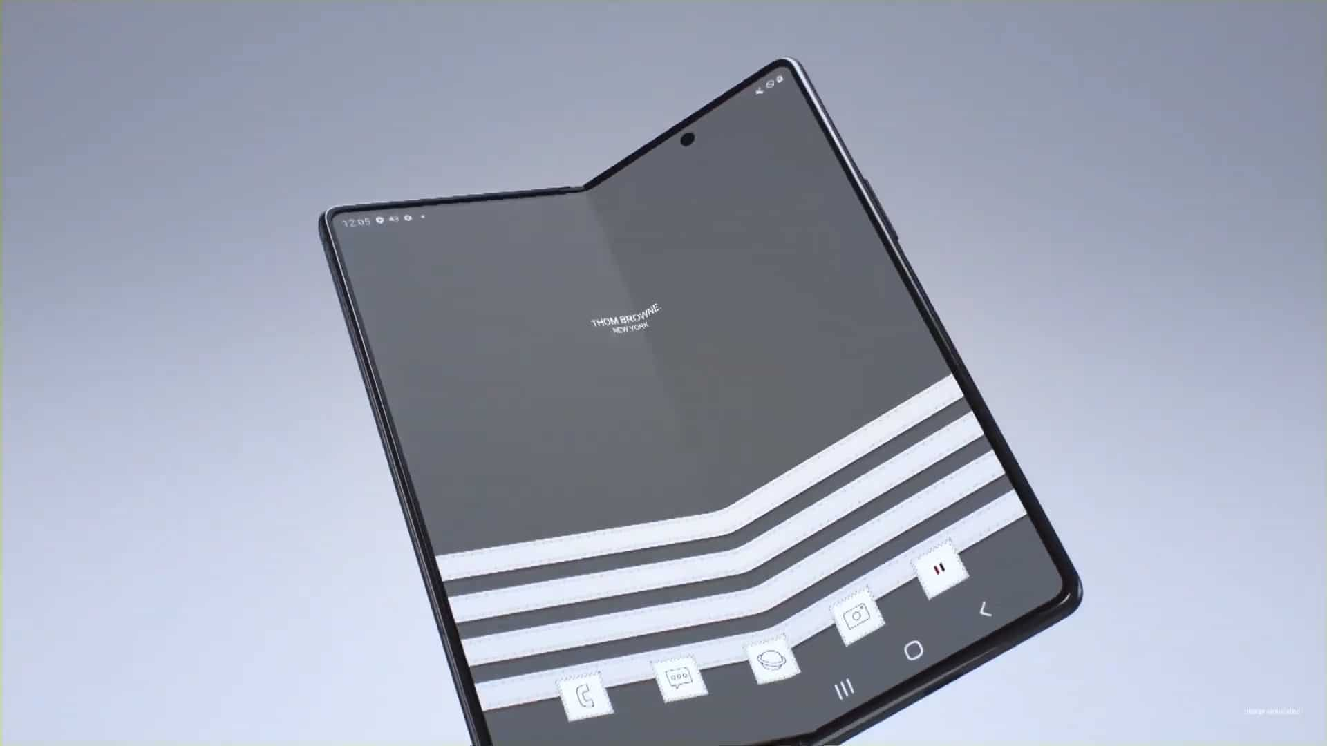 Fashion Tech Combine In The Galaxy Z Fold 2 Thom Browne Edition
