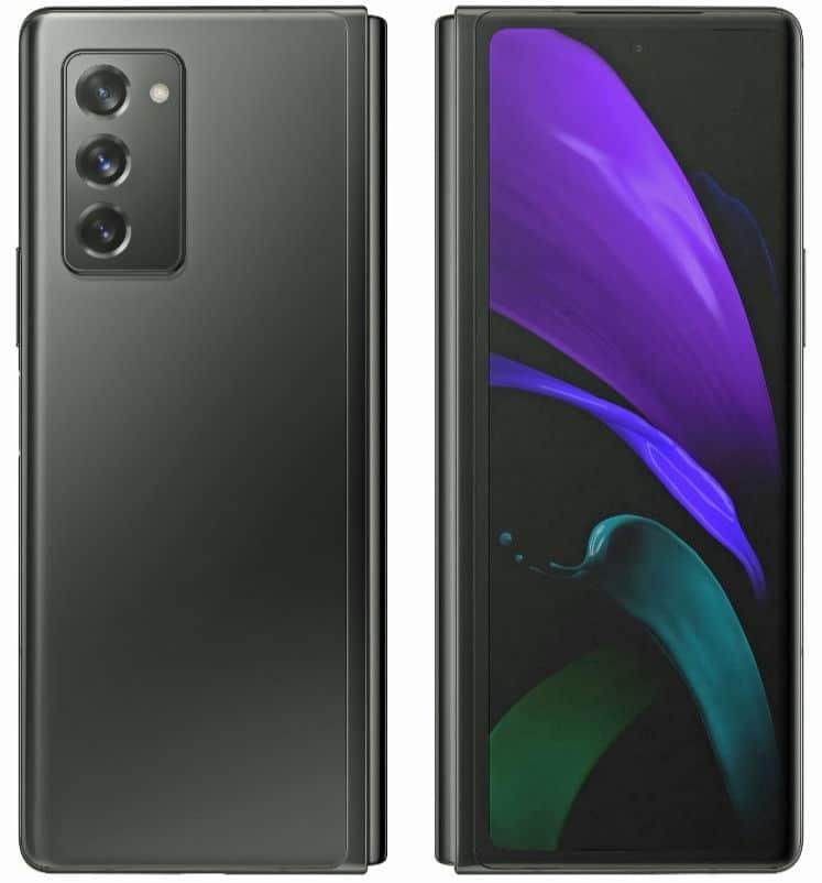 Samsung Galaxy Z Fold 2 render leak 2 2