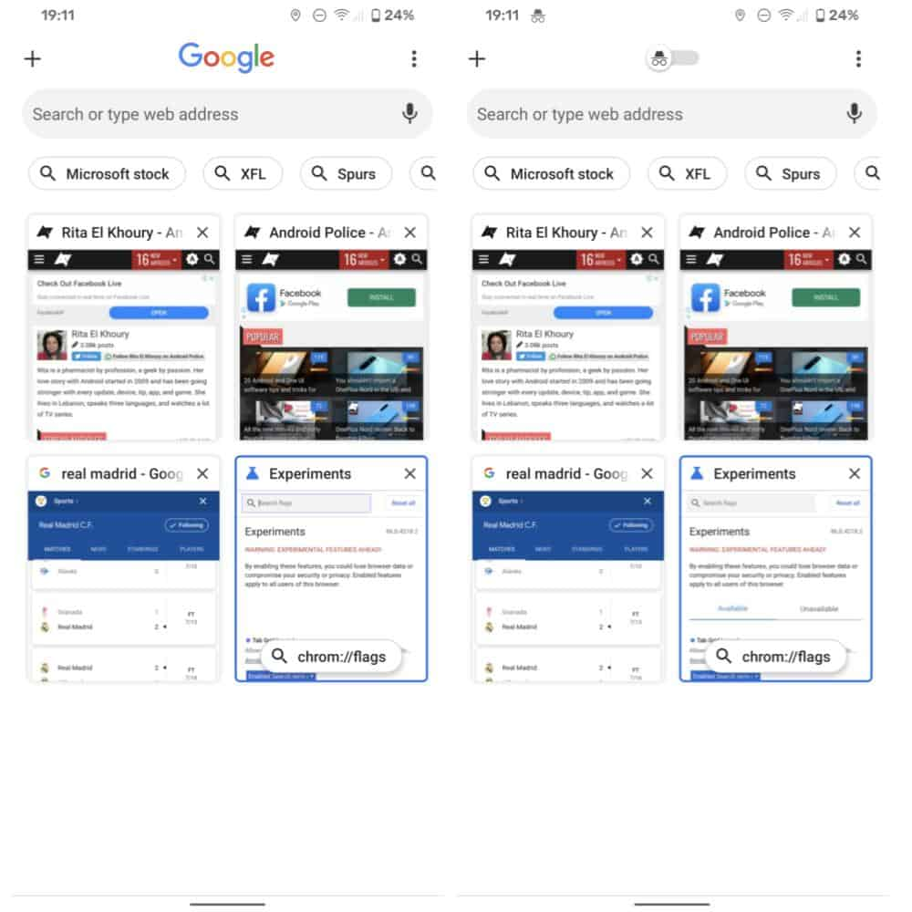Search Trends Chrome Tab Switcher Android from Android Police