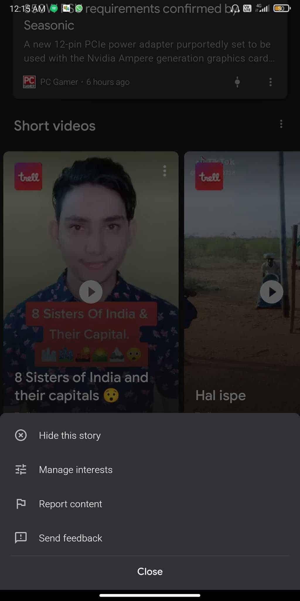 google discover short videos 2