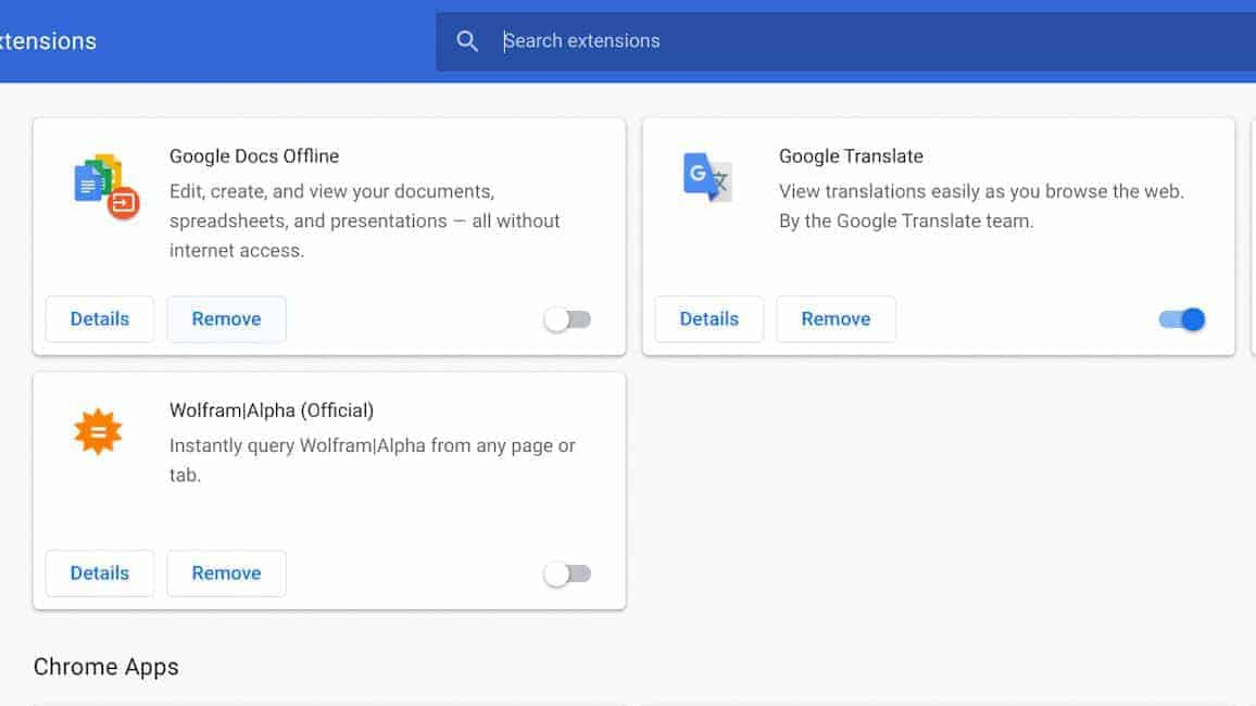 toggle how data chrome extensions