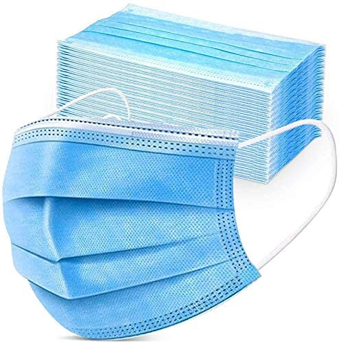 Disposable Face 3 Layer Anti-Dust Earloops Protective Cover Mask (50-pack) - Amazon
