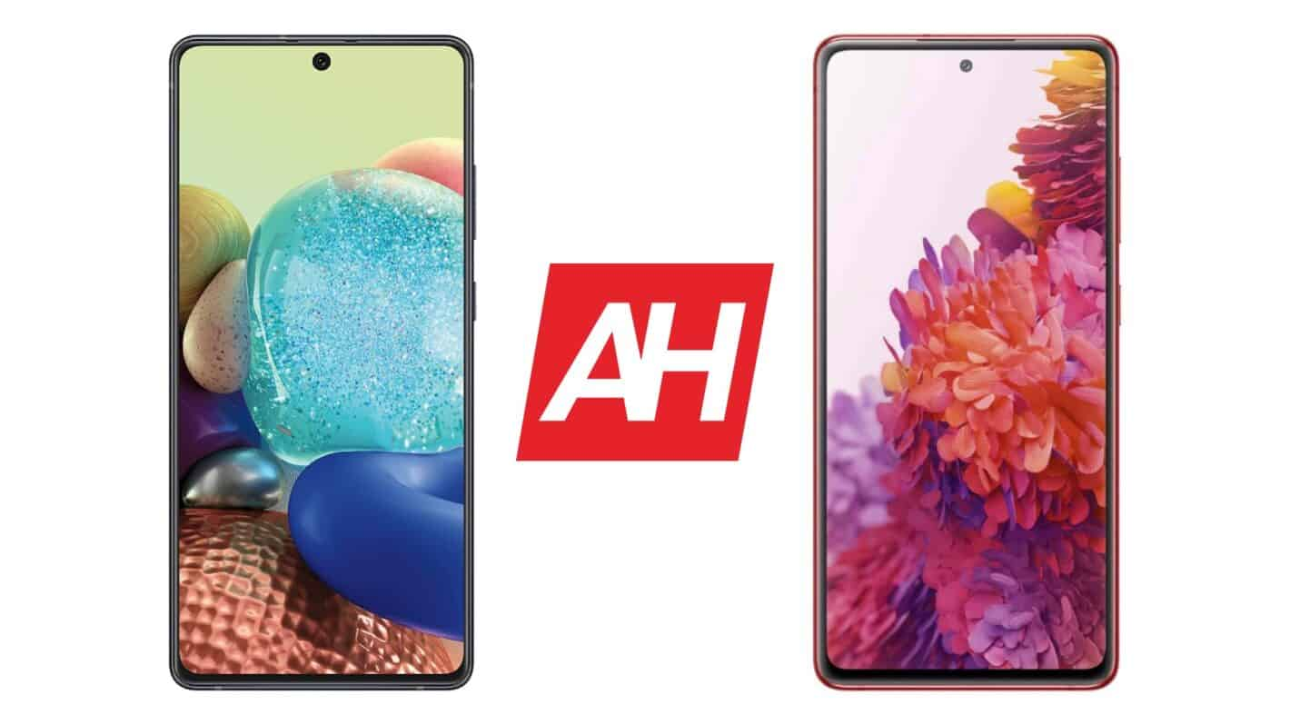 AH Galaxy A71 vs Galaxy S20 FE comparison