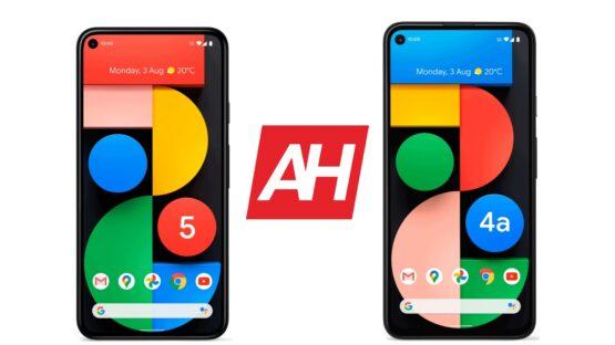 AH Google Pixel 5 vs Google Pixel 4a 5G comparison