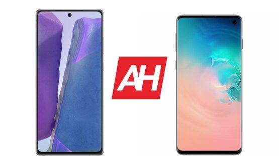 AH Samsung Galaxy Note 20 vs Samsung Galaxy S10 comparison
