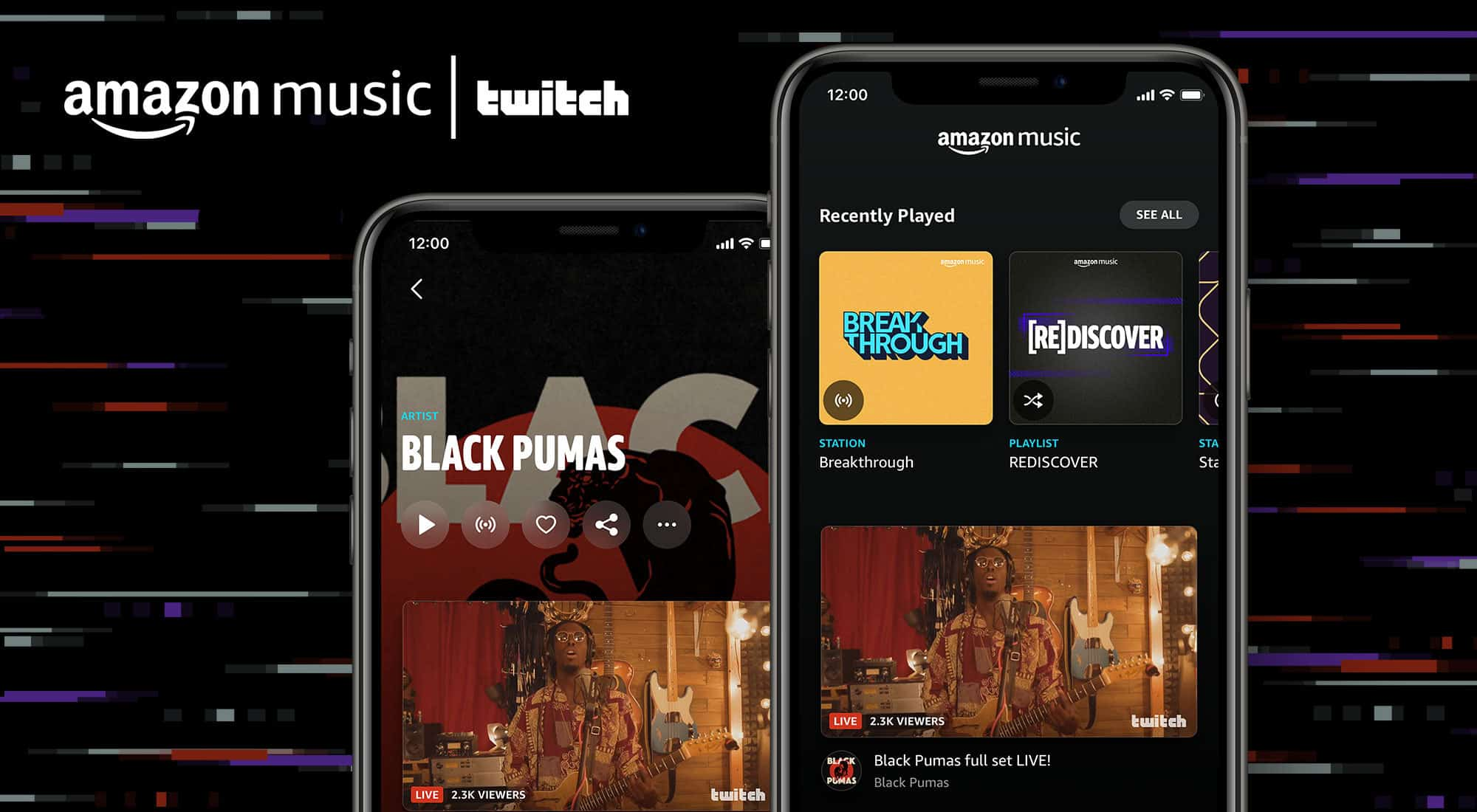 Amazon Music Twitch streaming