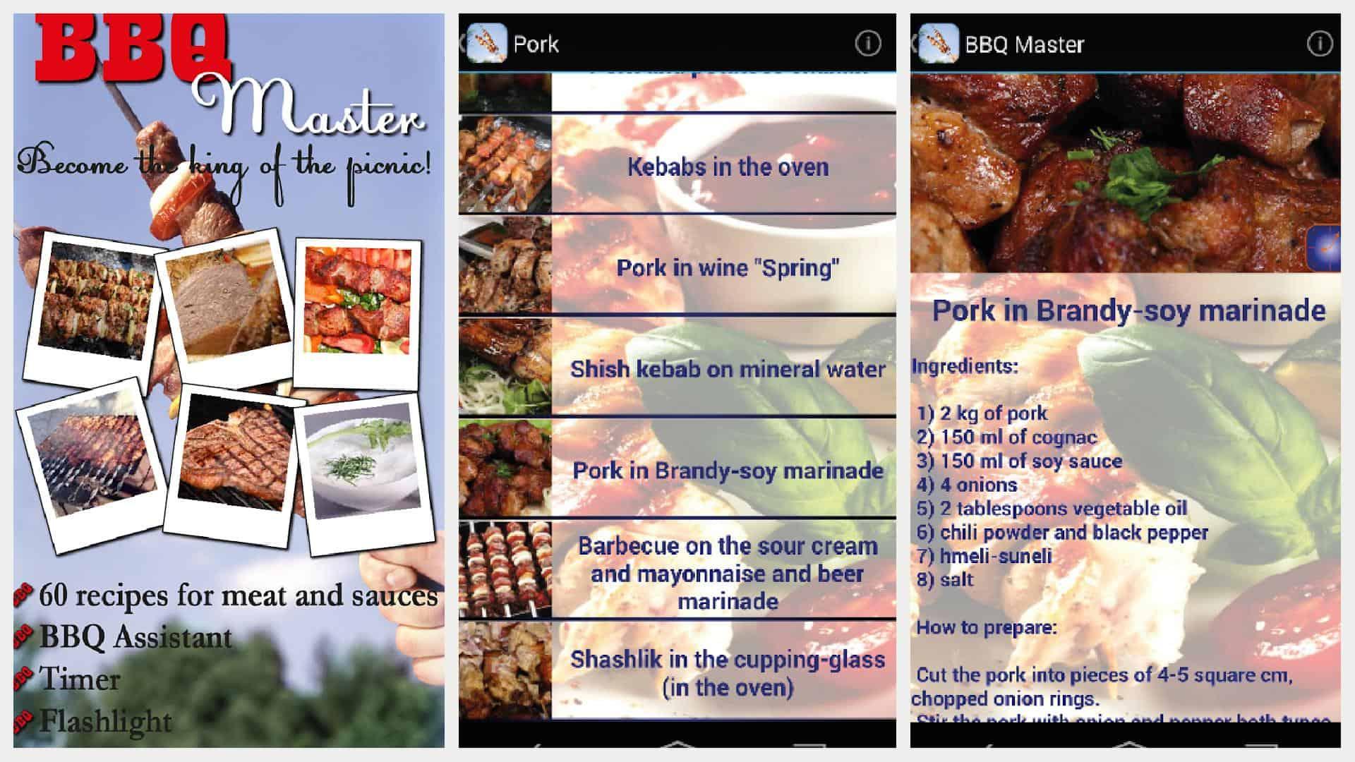 BBQ Master app grid 1
