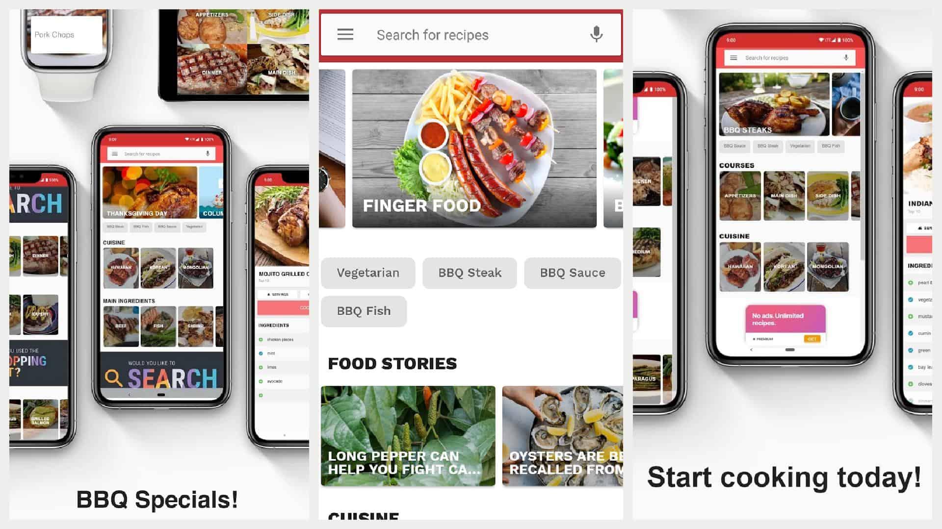 Barbecue Recipes app grid 1