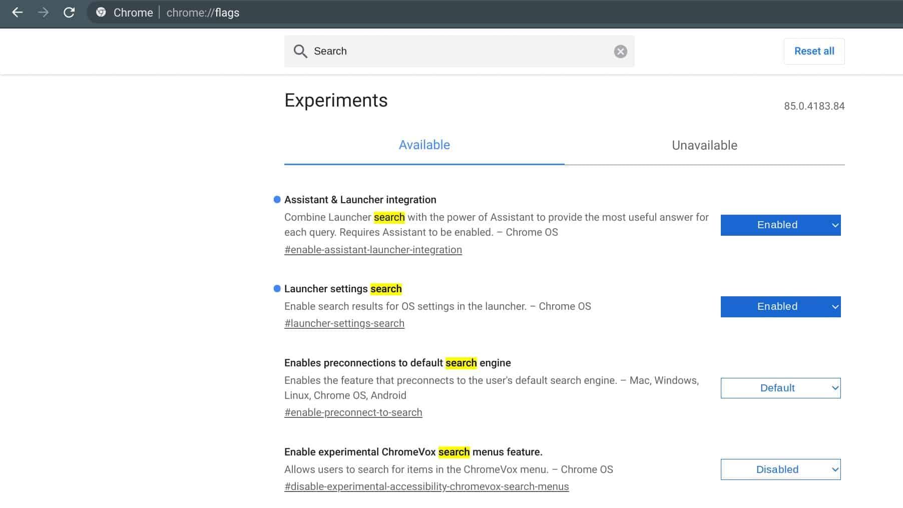 Chromebooks Chrome OS Search Settings Integration Google Assistant