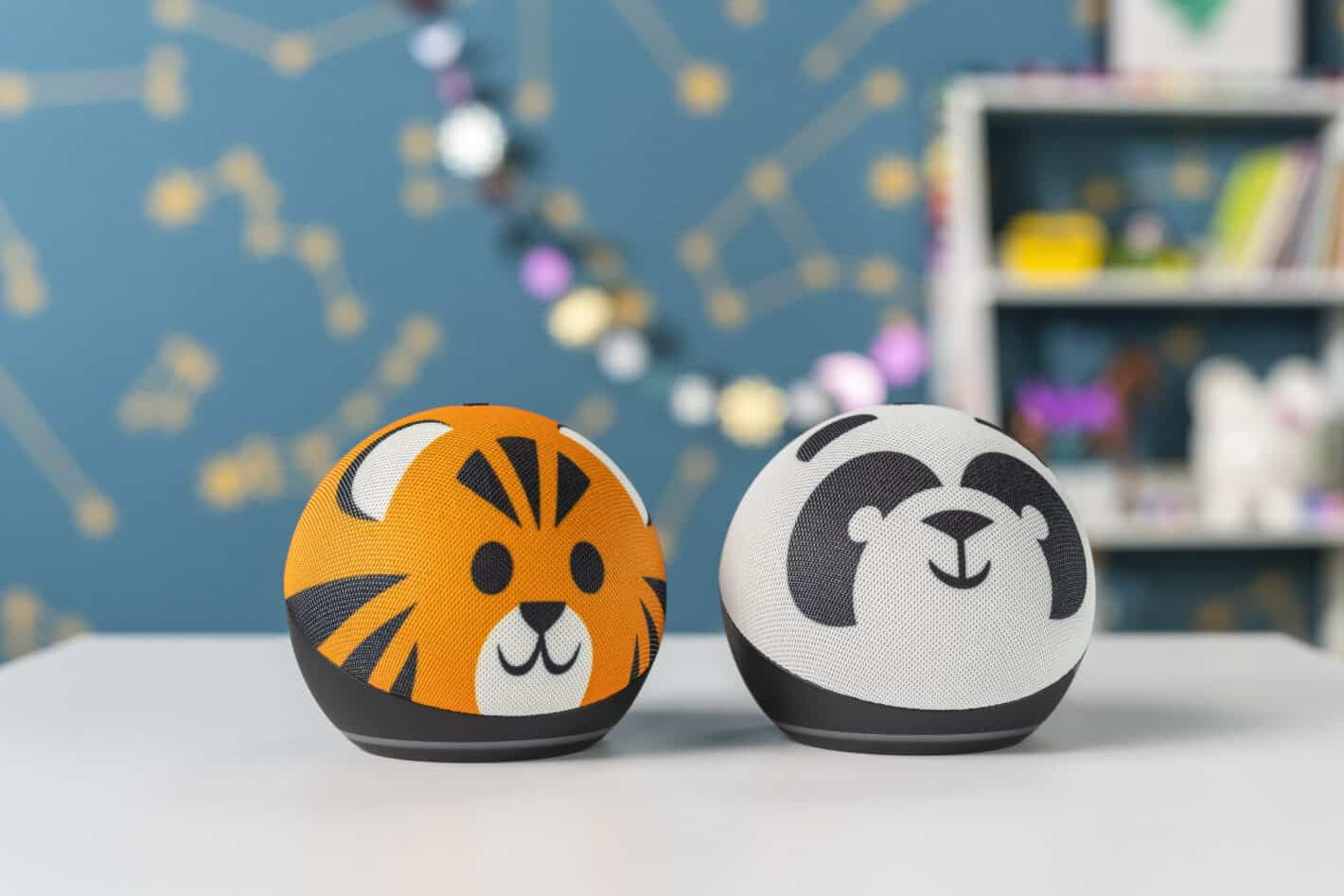 Echo Dot Kids Edition Tiger and Panda