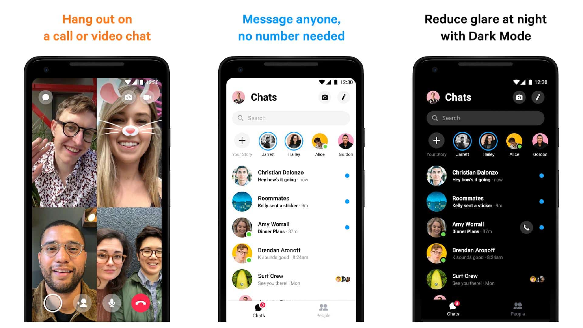 Facebook Messenger app grid 1