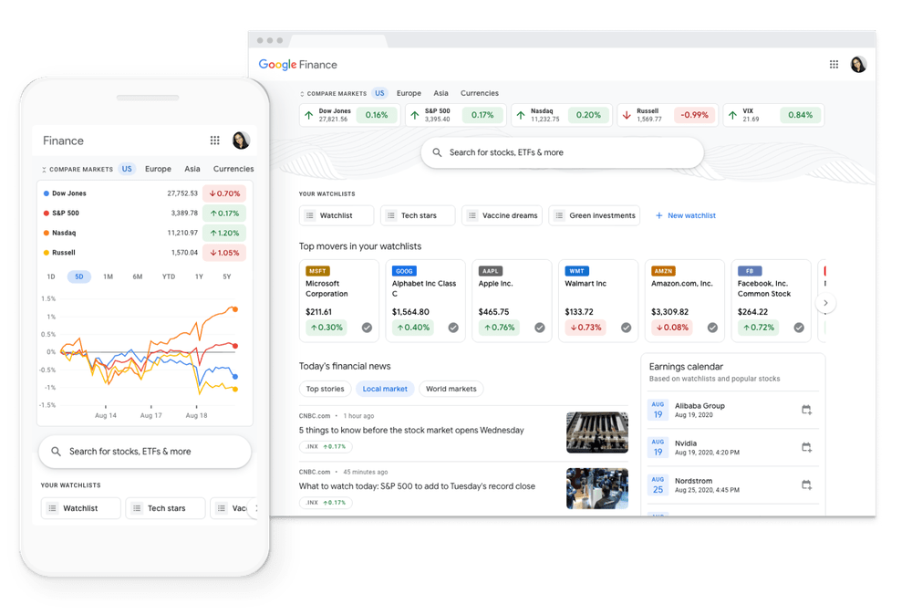 Google Finance Gets A Redesign For Desktop And Web Versions