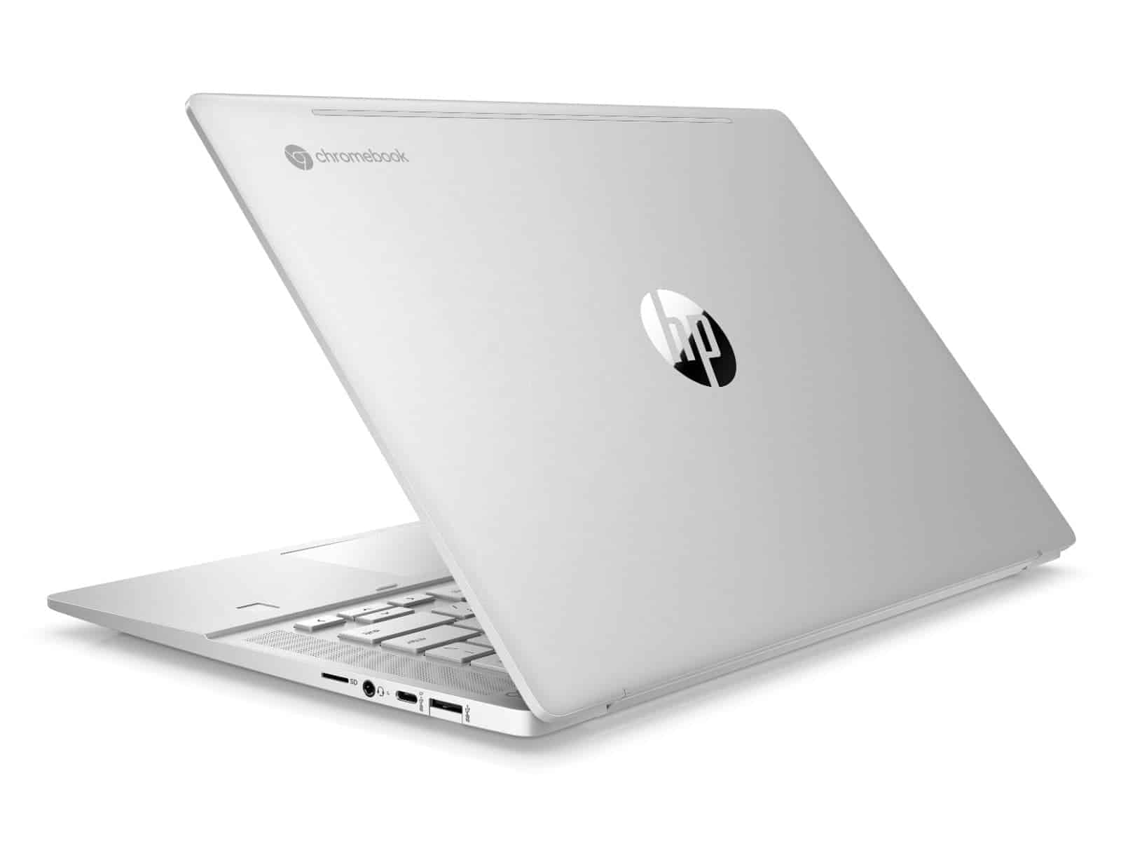 HP Pro c645 Chromebook Enterprise Rear Left