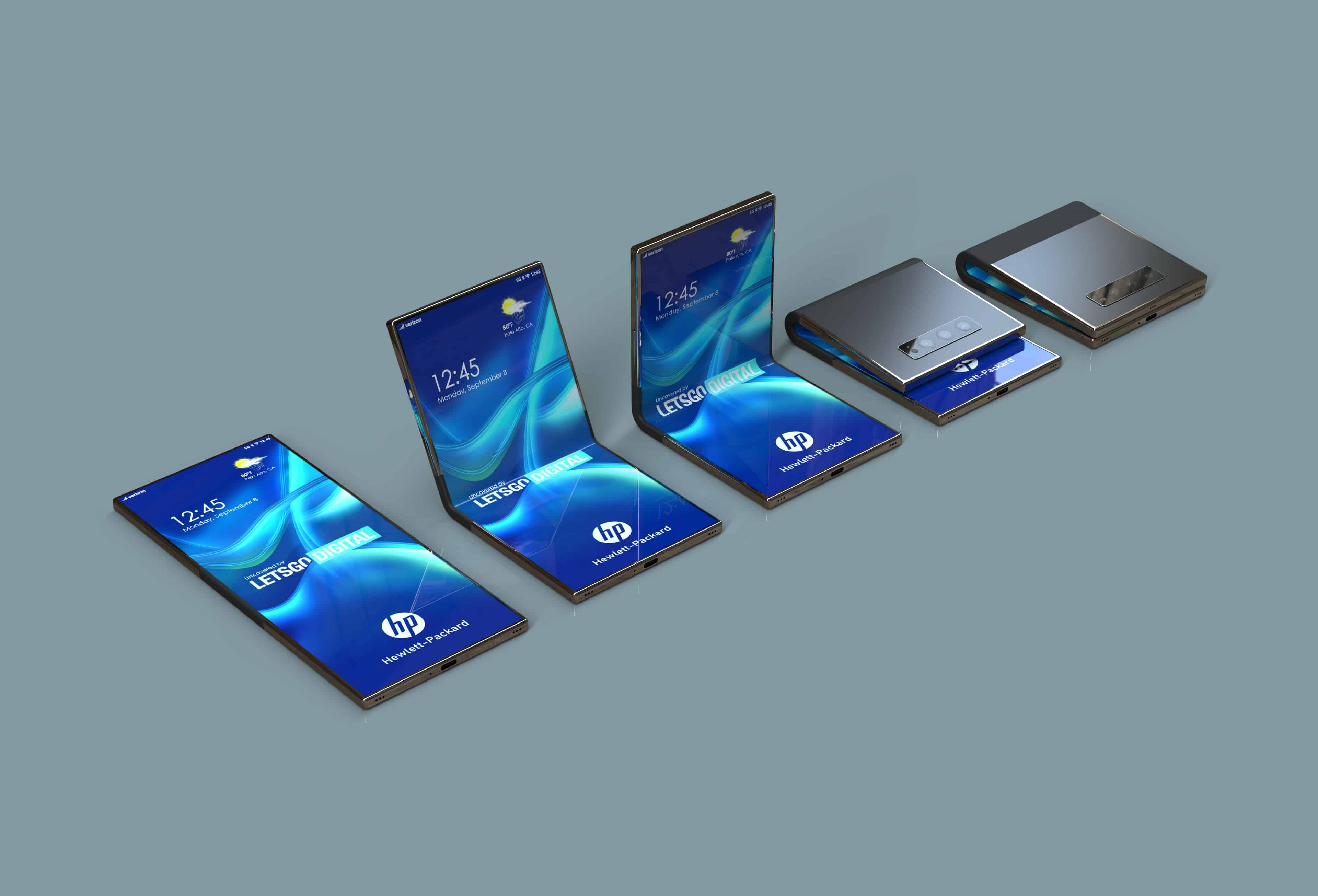 HP foldable smartphone patent design 7