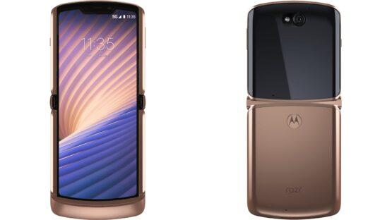 Motorola Razr 5G Blush Gold render leak featured