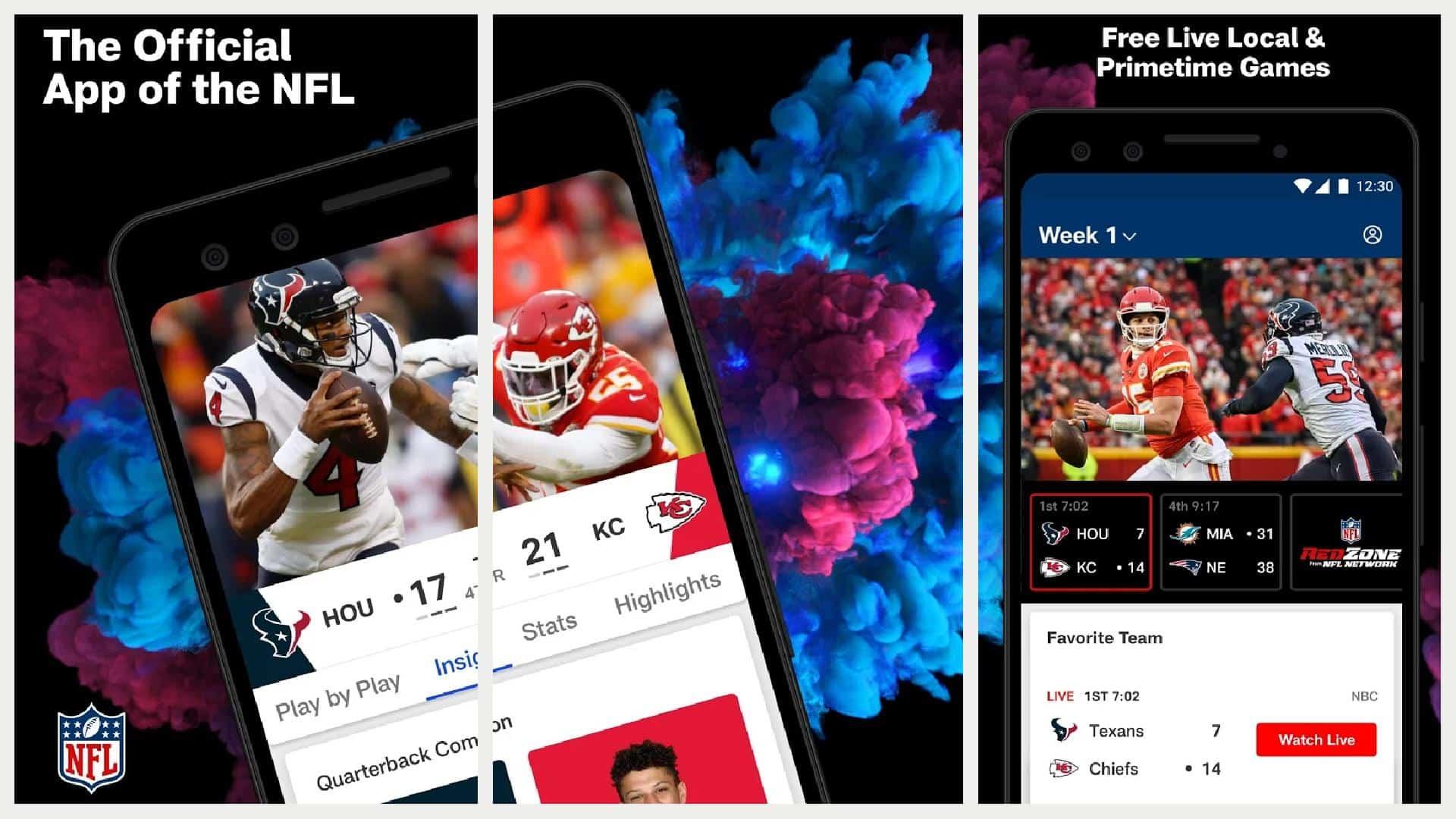 NFL app grid