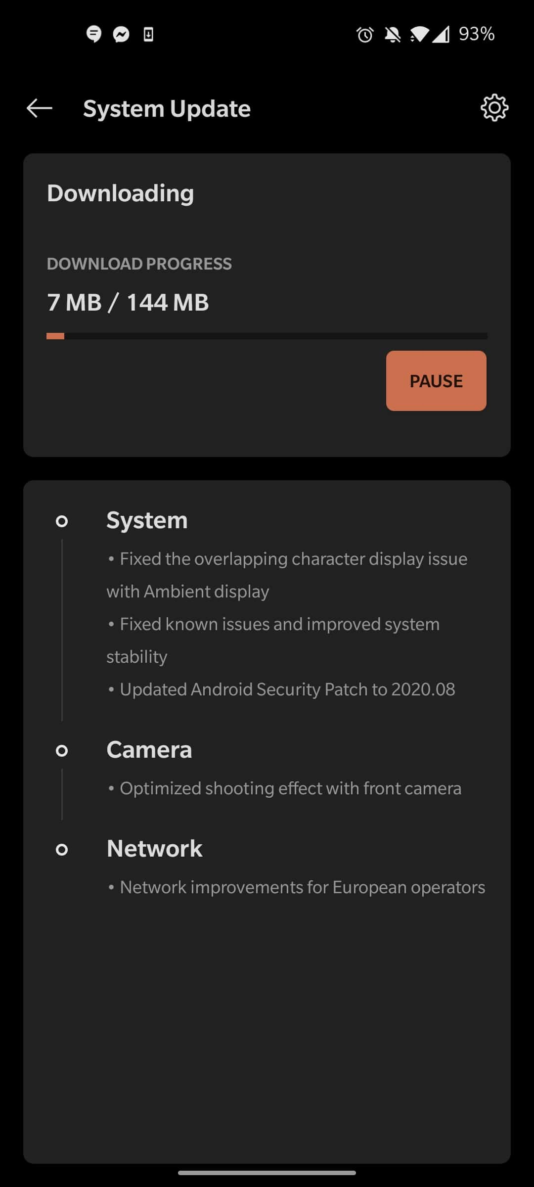 OnePlus 8 OxygenOS 10 5 11 update