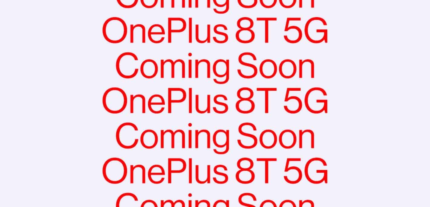 OnePlus 8T coming soon featured