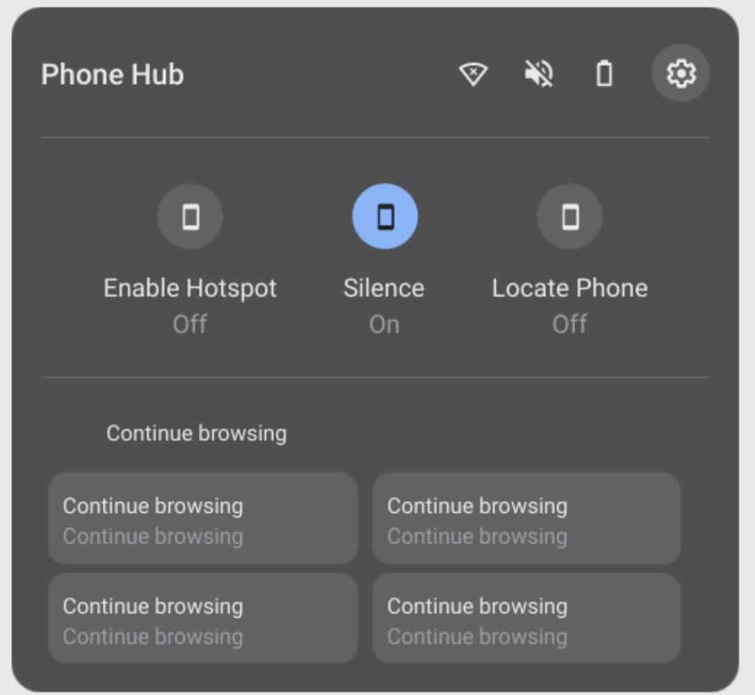 Phone Hub Chromebooks image from Chrome Unboxed