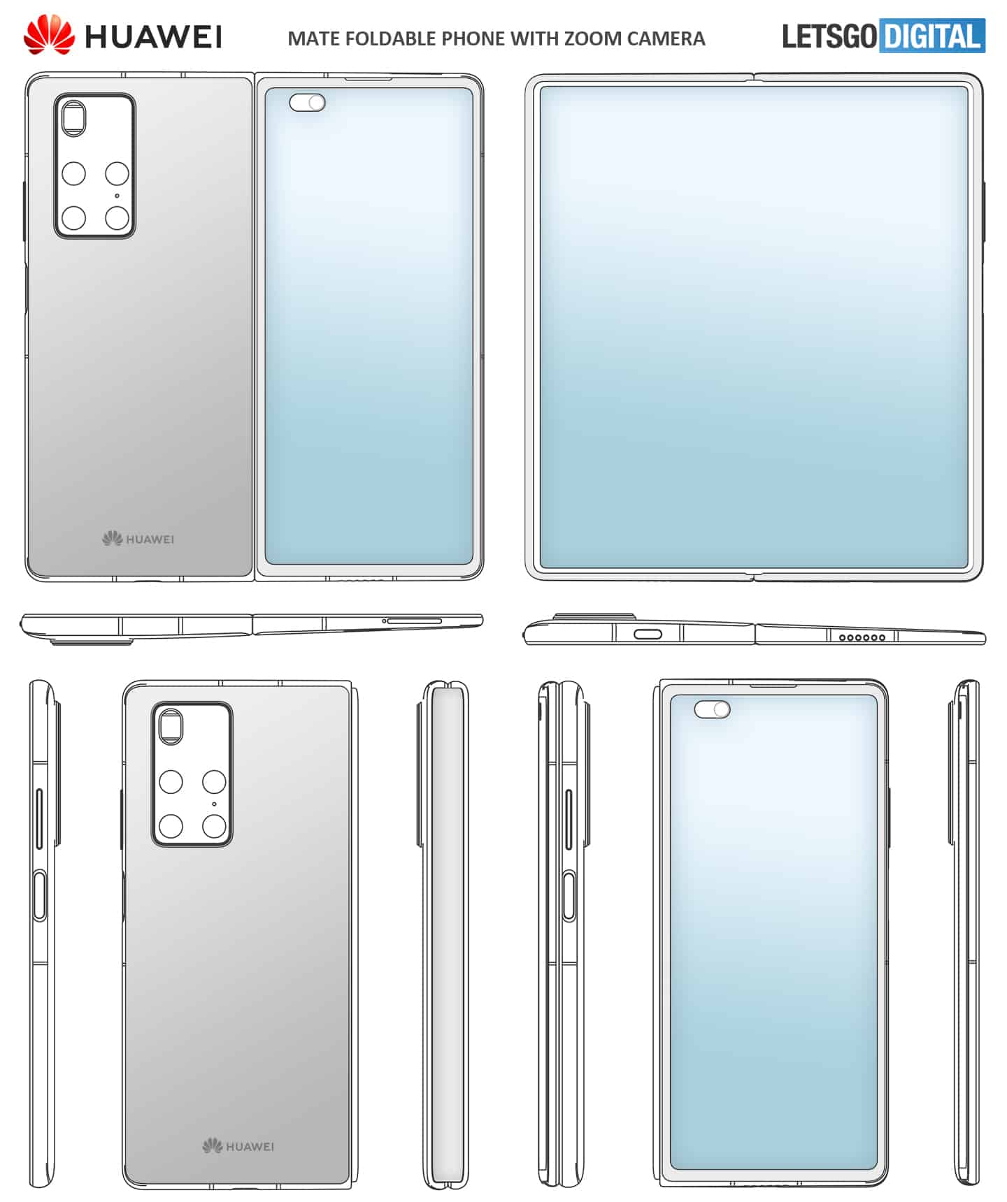 Possible Huawei Mate X2 design 2
