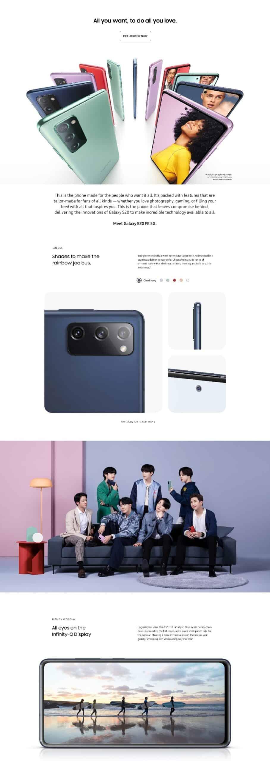 Samsung Galaxy S20 FE infographic leak 1