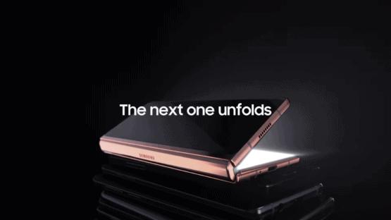 Samsung Galaxy Z Fold 2 official video screenshot
