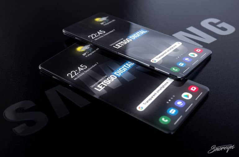 Samsung transparent smartphone Letsgodigital image 1