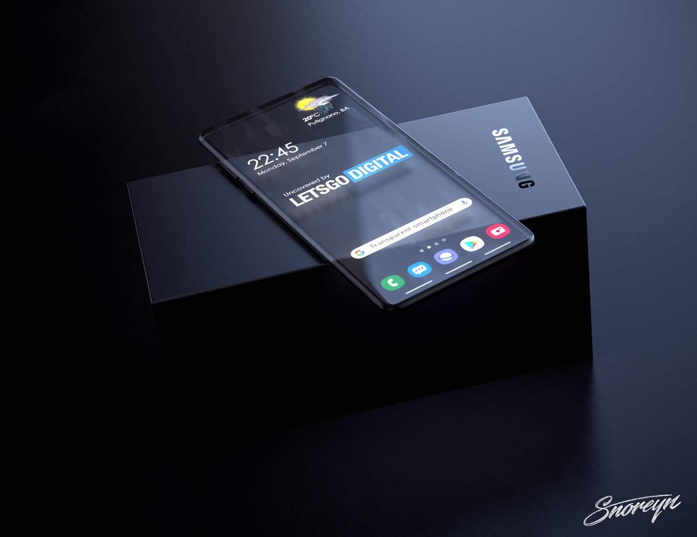 Samsung transparent smartphone Letsgodigital image 3