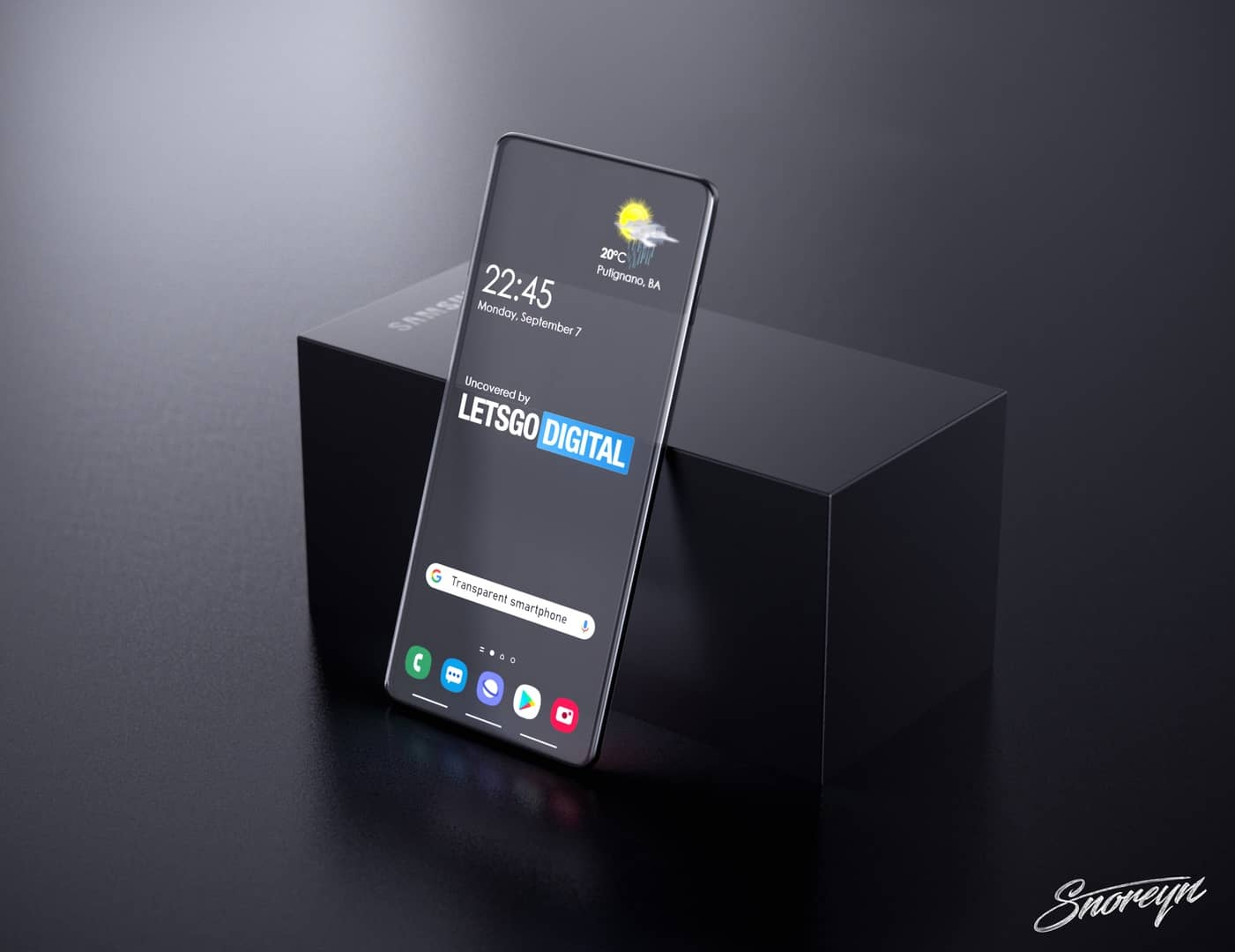 Samsung transparent smartphone Letsgodigital image 4