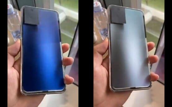 Smartphone backplate color change