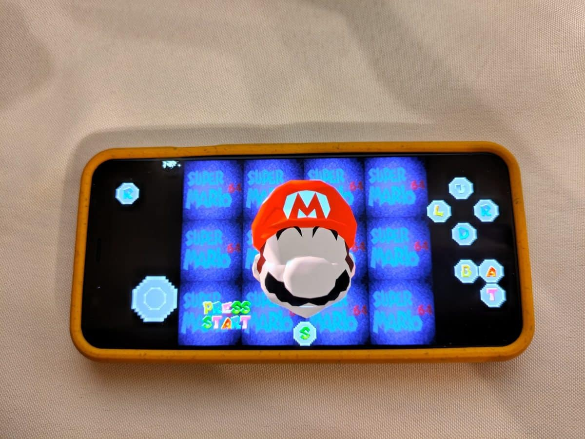 Super Mario 64 on Android
