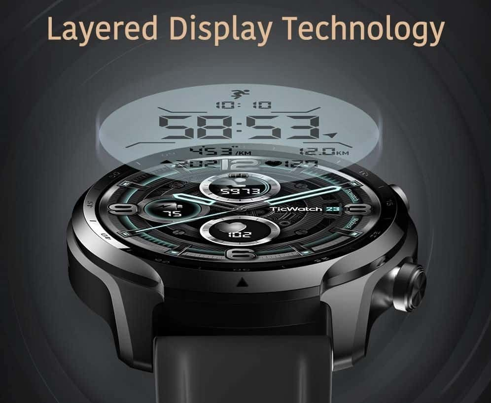 Ticwatch pro 3 display