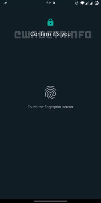WhatsApp Web fingerprint security WABetaInfo 338x675 1
