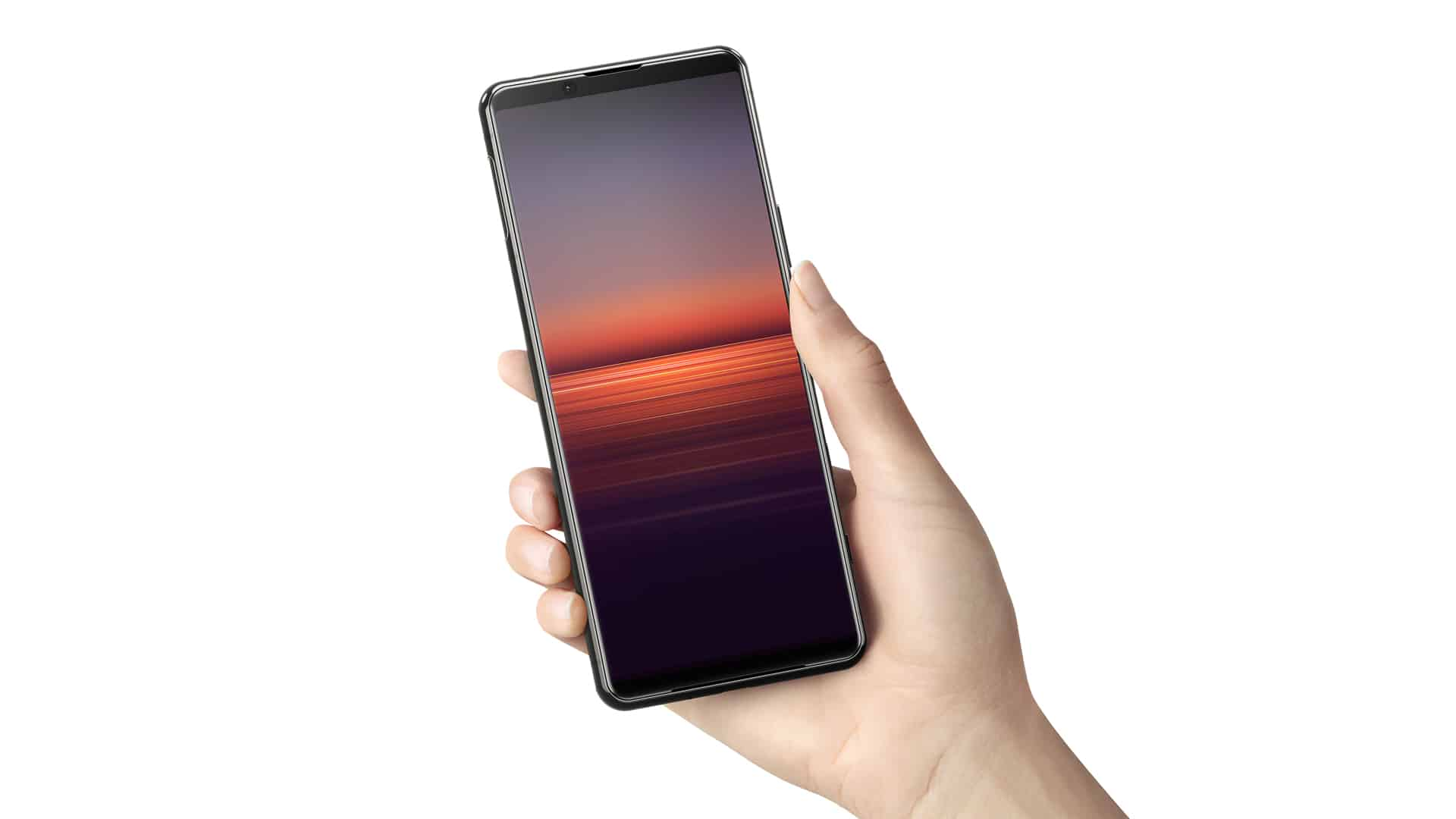 Xperia 5 II in hand viewing one hand