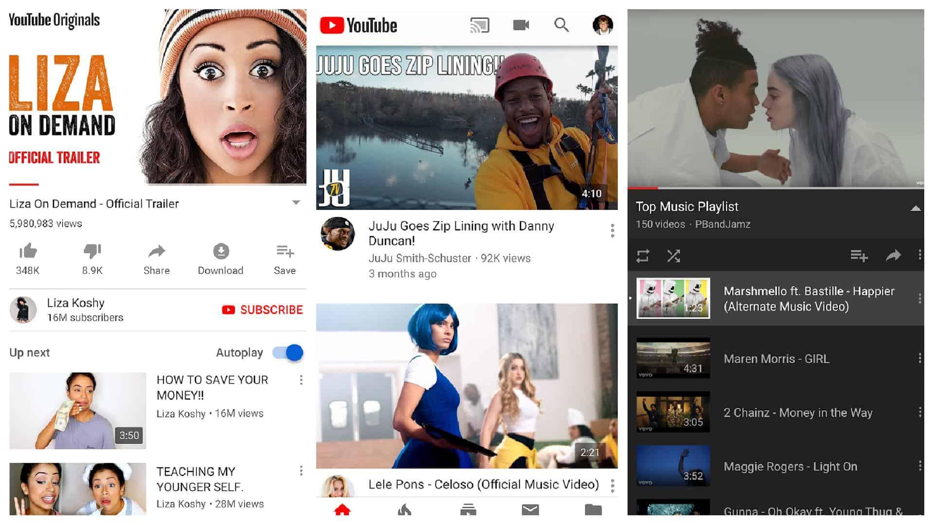 YouTube app grid 1