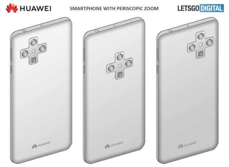 huawei smartphone cross shaped camera