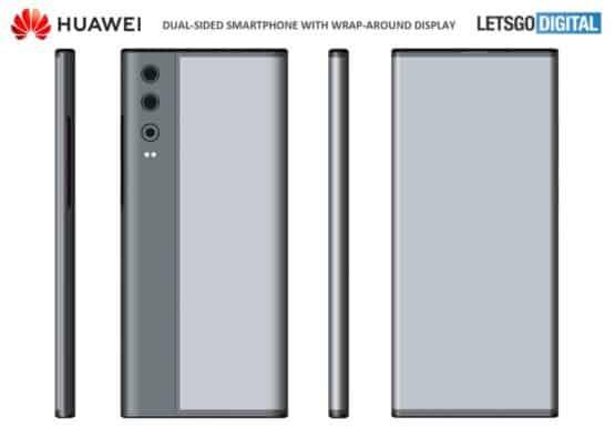 huawei smartphone wrap around display