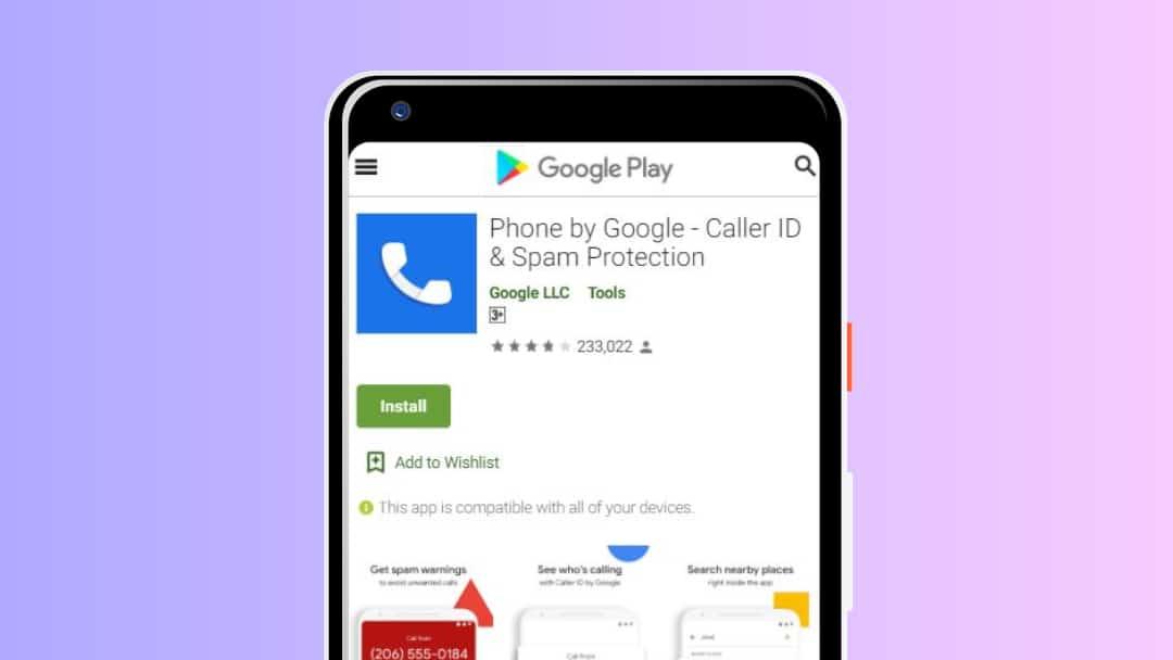 phone by google app