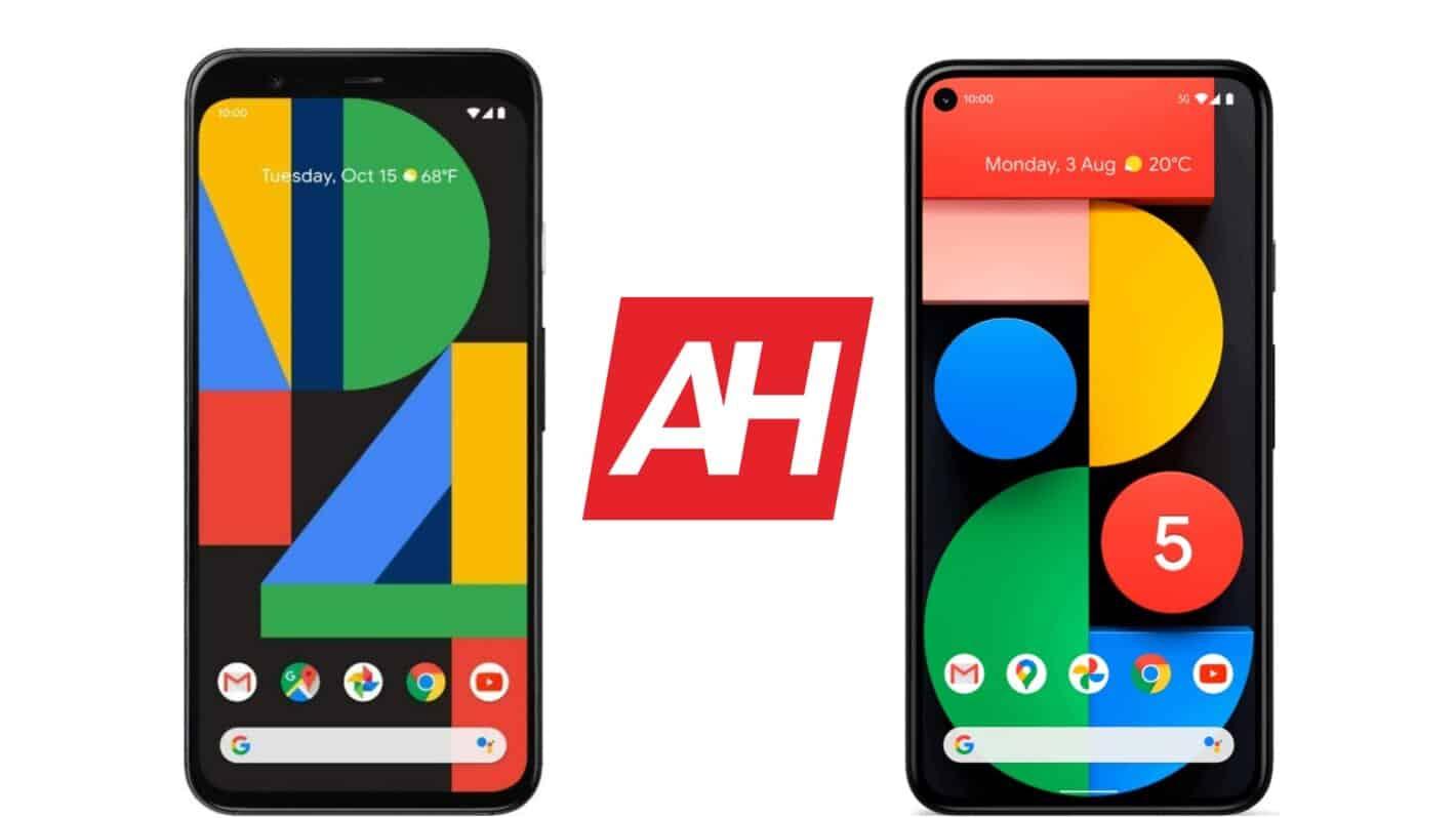 AH Google Pixel 4 vs Google Pixel 5 comparison