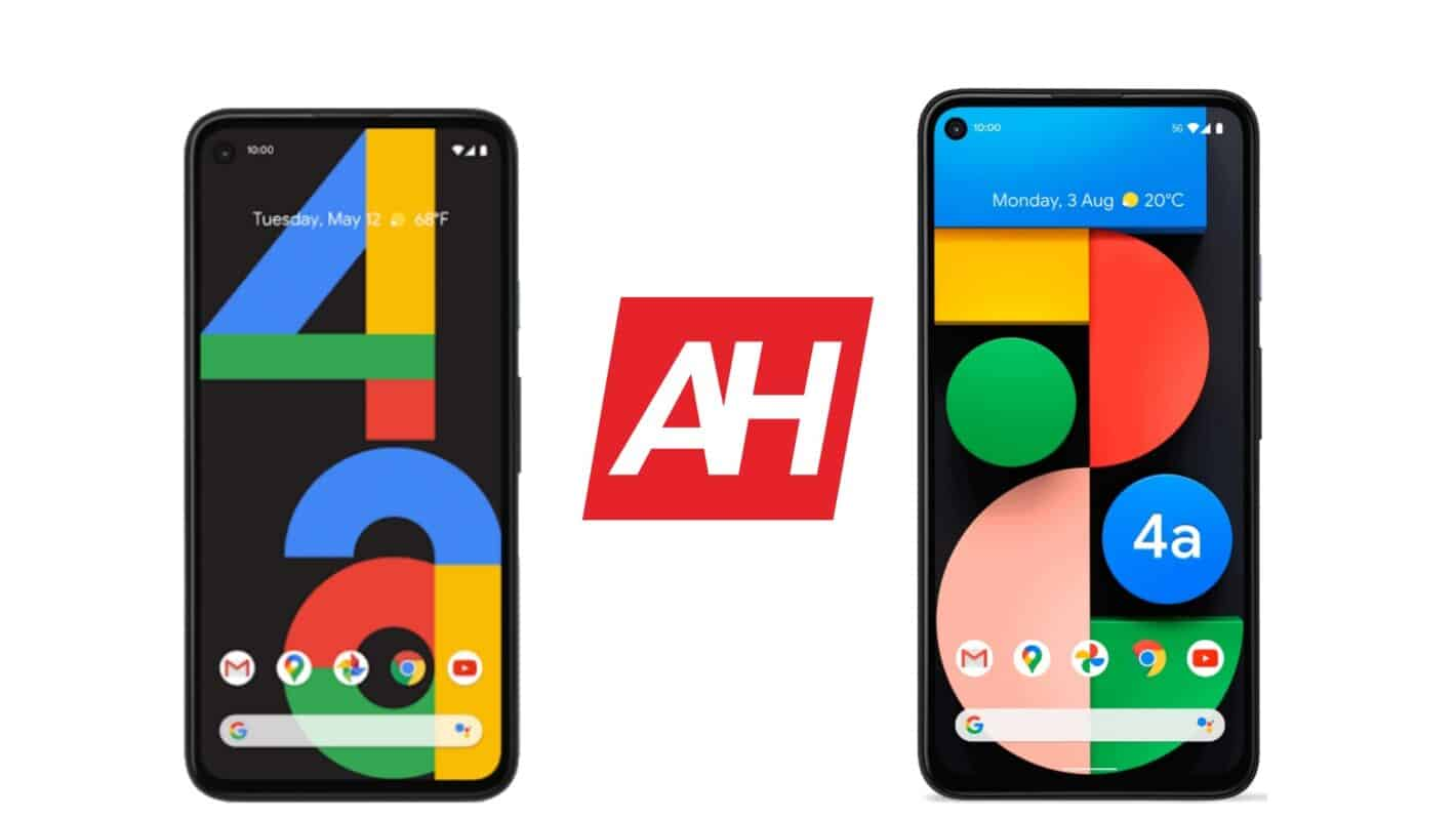 AH Google Pixel 4a vs Google Pixel 4a 5G comparison
