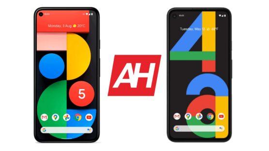 AH Google Pixel 5 vs Google Pixel 4a comparison