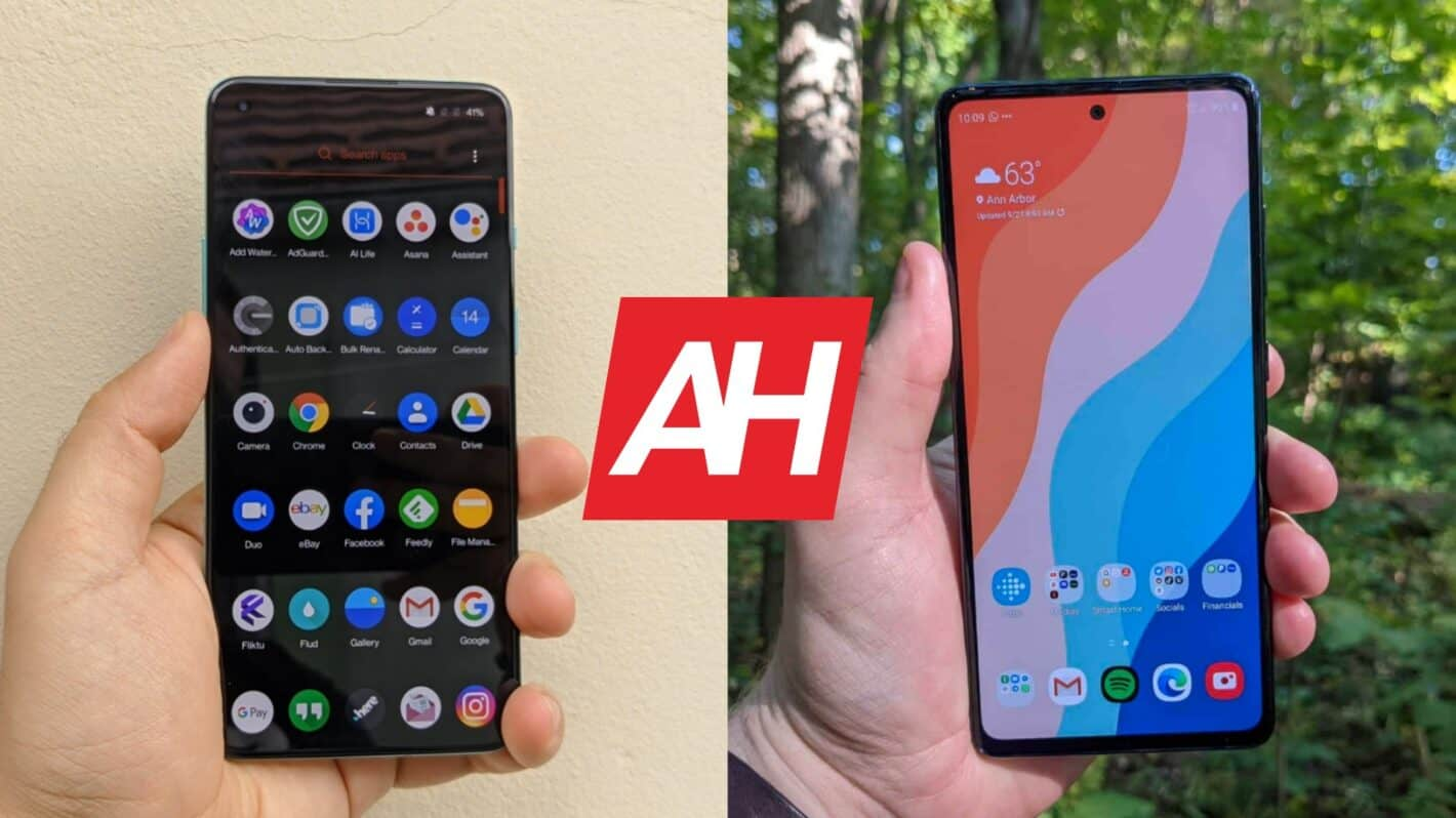 AH OnePlus 8T vs Samsung Galaxy S20 FE comparison