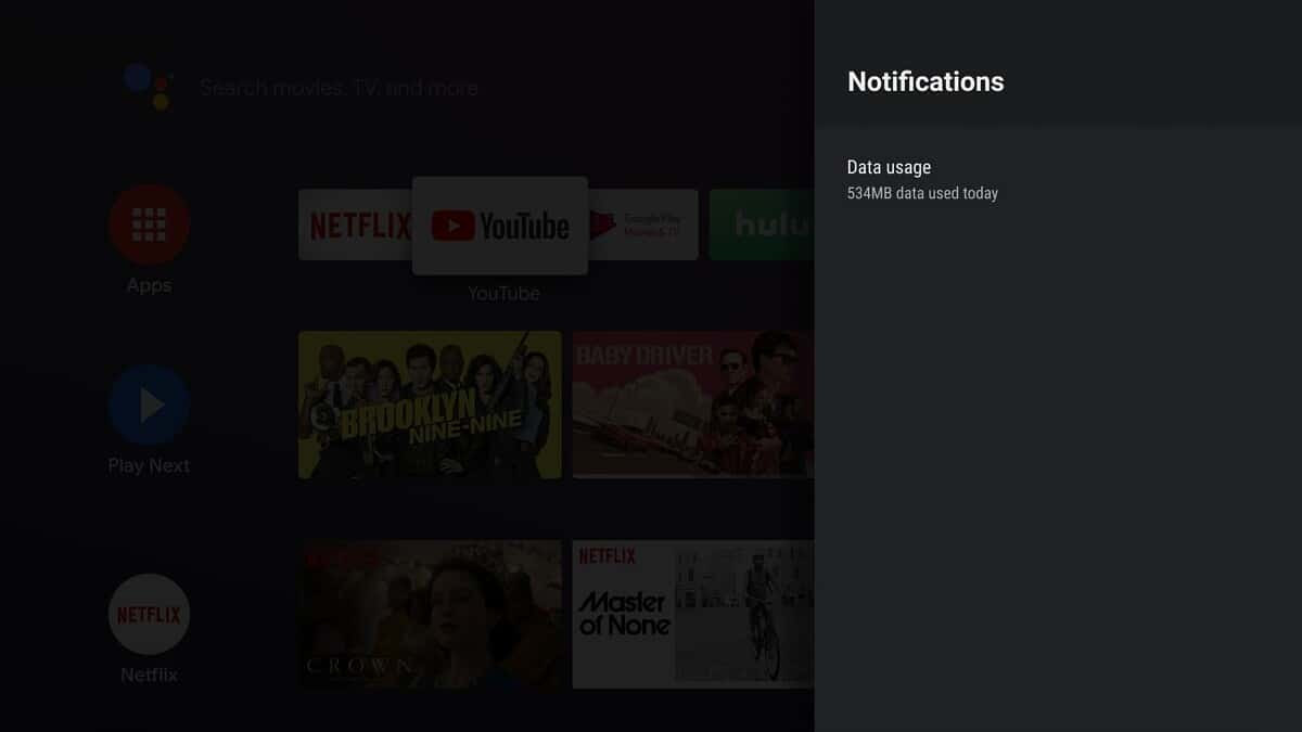 Android TV Data Saver app 2
