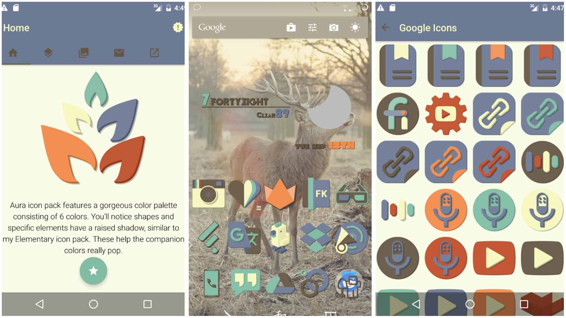 Aura Icon Pack app grid image
