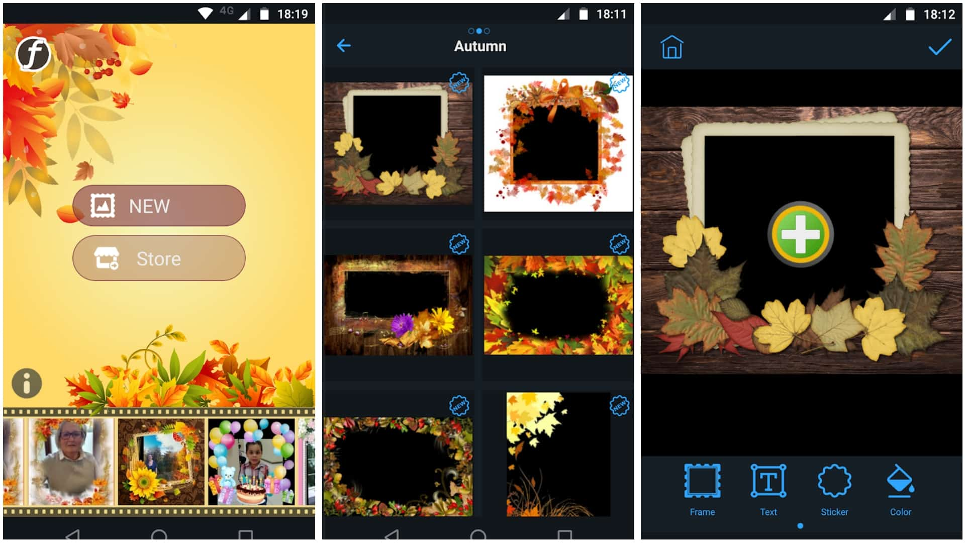 Autumn Photo Frames app grid image 1